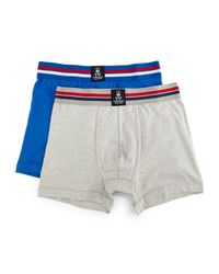 Psycho Bunny - Blue Tagless Motion Jersey-knit Boxer Brief Set for Men - Lyst