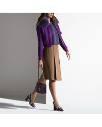 Bally Natural A-line Skirt