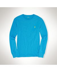 Polo Ralph Lauren | Blue Custom-fit Long Sleeve Tee | Lyst