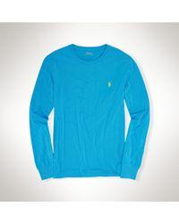 Polo Ralph Lauren - Blue Custom-fit Long Sleeve Tee - Lyst