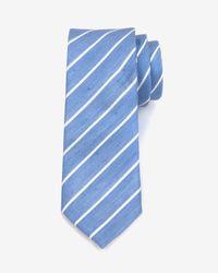Ted Baker - Blue Stripe Tie for Men - Lyst