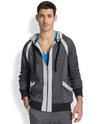 2xist | Black Terry Full-zip Hoodie for Men | Lyst