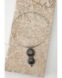 Forever 21 | Metallic Faux Stone Pendant Choker | Lyst