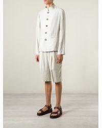 Giorgio Armani - Natural 'mao' Buttoned Jacket for Men - Lyst
