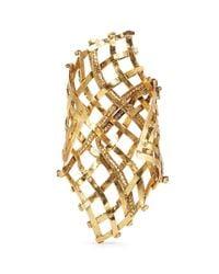 Erickson Beamon | Metallic 'heart Of Gold' Gauzy Crystal Cuff | Lyst