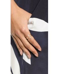 Jacquie Aiche | Metallic Ja Starlight Ring - Gold/Clear | Lyst