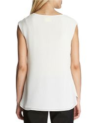 Cece by Cynthia Steffe | White Ruffle Front Blouse | Lyst