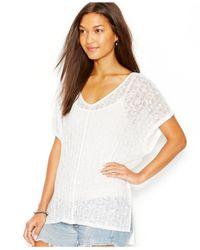 Sanctuary | White Short-sleeve Tunic Sweater | Lyst