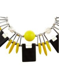 Weekend by Maxmara | Yellow Embellished Collar Necklace | Lyst