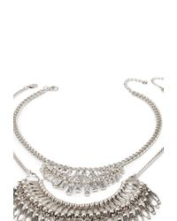 Forever 21 | Metallic Stackable Rhinestone Necklace Set | Lyst