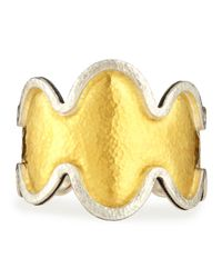 Gurhan | Metallic Tapered Two-Tone Flame Bracelet | Lyst