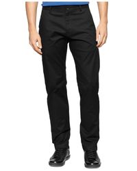 Calvin Klein | Black Calvary Twill Ultra-slim Pants for Men | Lyst