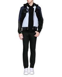 Givenchy - Multicolor Leather Hood Contrast Denim Bomber Jacket for Men - Lyst