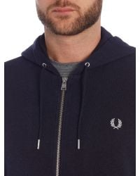 Stussy | Blue Plain Hoody Zip-thru Fastening for Men | Lyst