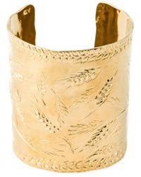 Aurelie Bidermann | Metallic 18kt Gold Plated 'francoise' Cuff | Lyst