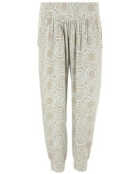 Cool Change Gray Cercle Surf Sage Printed Trousers