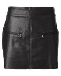 P.A.R.O.S.H. Black 'marald' Lambskin Mini Skirt