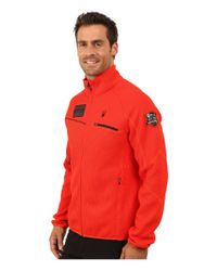 Spyder - Red Alps Full Mid Weight Core Sweater for Men - Lyst