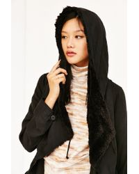 Silence + Noise | Black Jacquie Sherpa Parka Jacket | Lyst