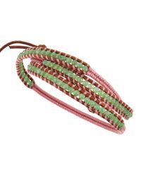 Chan Luu - Pink Triplewrap Green Jade Bracelet for Men - Lyst