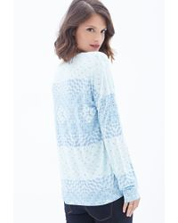 Forever 21 | Blue Tribal Print Knit Top | Lyst