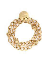 Alexander McQueen | Metallic Skull Chain Bracelet | Lyst