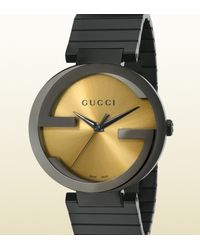 Gucci - Black Grammy Special Edition Extra Large Interlocking Watch - Lyst