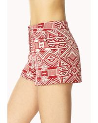 Forever 21 | Red Luxe Voyager Shorts | Lyst