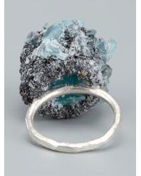 Arielle De Pinto - Blue 'crystal Boule' Ring - Lyst