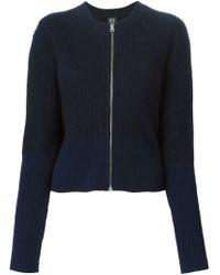 McQ - Blue Ribbed Knit Cardigan - Lyst