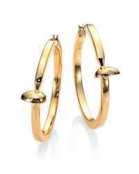 Giles & Brother | Metallic Railroad Spike Hoop Earrings/2 | Lyst