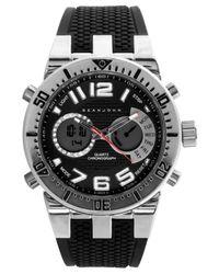 Sean John Men's Analog-digital Black Silicone Strap Watch 60x45mm 10021794 for men