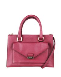 Cole Haan | Purple Amalia Leather Satchel | Lyst