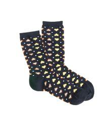 J.Crew - Blue Heart Print Trouser Socks - Lyst
