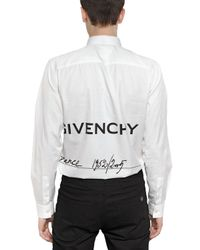 Givenchy White Signature Slim Fit Cotton Poplin Shirt for men