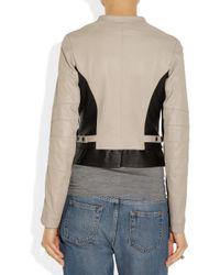 Alice By Temperley Black Adelaide Twotone Leather Biker Jacket