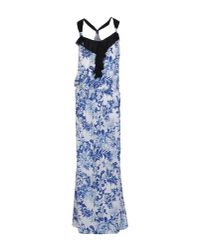 Patrizia Pepe - Blue Long Dress - Lyst