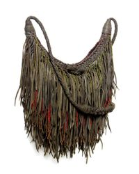En Shalla - Green Leather Tassle Bag - Lyst