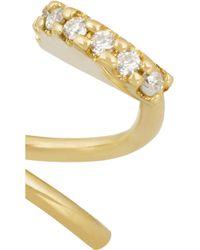 Maria Black Metallic Lila Twirl 18-karat Gold Diamond Earrings