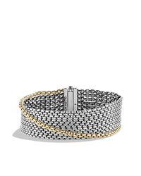 David Yurman | Metallic Chain Eight-row Bracelet With 18k Goldx | Lyst