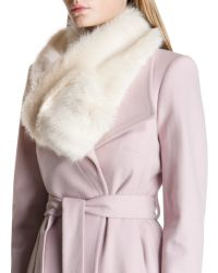Ted Baker White Faux Fur Scarf