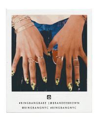 Bing Bang | Pink Peace Stacking Ring | Lyst