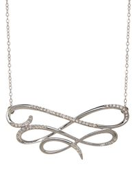 Lord & Taylor | Metallic Diamond And 14k White Gold Necklace | Lyst