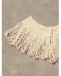 Free People - Natural Vintage Cream Crochet Collar - Lyst