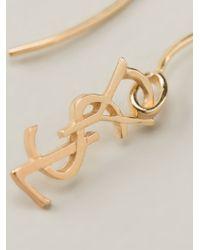 Saint Laurent Metallic 'monogram' Earrings