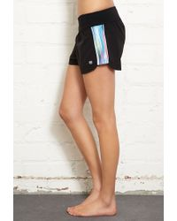 Forever 21 Black Reflective Trim Running Shorts