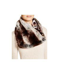 Badgley Mischka - Gray Faux-fur Collar - Lyst