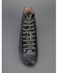 Candice Cooper Gray Contrast High-Top Sneakers