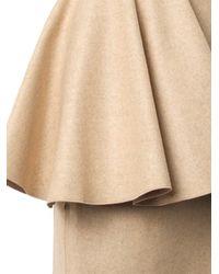 ROKSANDA Natural Calder Felted Wool Skirt