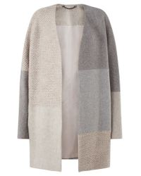 Jigsaw Multicolor Textured Knitted Patchwork Coat